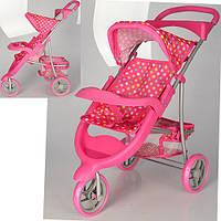 Детская прогулочная трехколесная коляска для кукол Мелого Melogo 9614