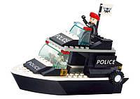 Конструктор SLUBANM38-B1700 поліція, катер, фігурка, 98 дет., кор., 24-19-4,5 см, фото 1
