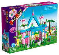 Конструктор BANBAO 6168 замок, 300 дет., фігурки 2 шт., кор., 30-22,5-5 см