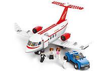 Конструктор SLUBAN M38-B0365 Авіація, літак, фігурки, 275 дет., кор., 33-28,5-6,5 см, фото 1