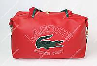 Женская сумка Lacoste B02 Большой, Абстрактный принт, Красный