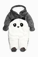 Детский теплый человечек в виде мишки панда