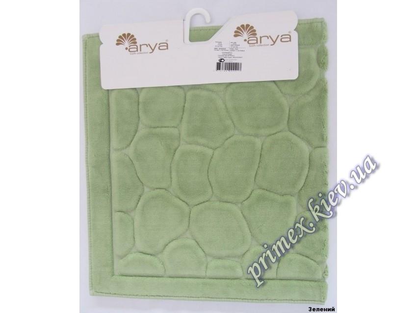 """Коврик прямоугольный для ванной Ария """"Тас"""", цвет зеленый"""
