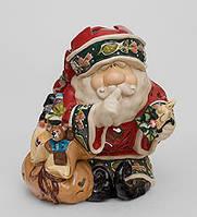"""Фарфоровый подсвечник """" Дед мороз с мешком """""""