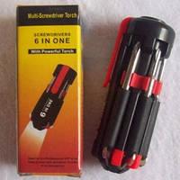 Отвёртка фонарик универсальная 7 в 1  Незаменимая вещь , фото 1