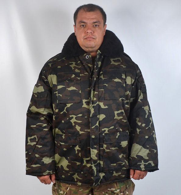 """Теплий армійський камуфльований бушлат """"Український дуб"""""""
