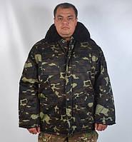 """Теплий армійський камуфльований бушлат """"Український дуб"""" , фото 1"""