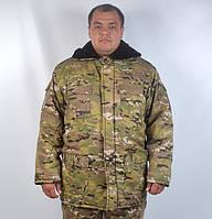 """Теплий армійський камуфльований бушлат """"Мультикам"""" , фото 1"""
