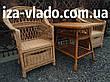 Плетеная мебель из лозы для сада. Набор «Простой с шуфладой», фото 5