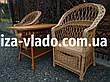 Плетеная мебель из лозы для сада. Набор «Простой с шуфладой», фото 6