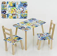 """Столик и два стульчика """"Покемоны"""""""