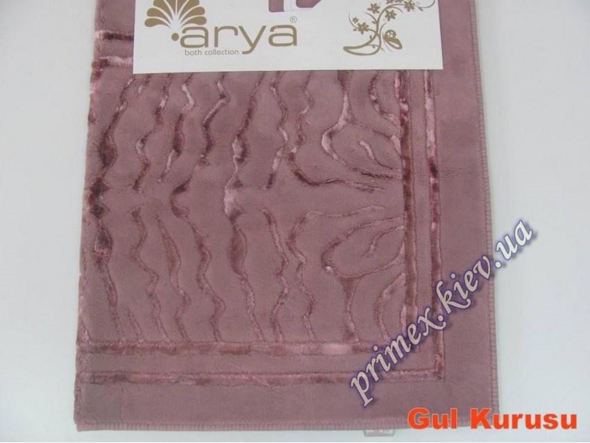 """Коврик прямоугольный для ванной Ария """"Зебра"""", цвет темно-розовый"""