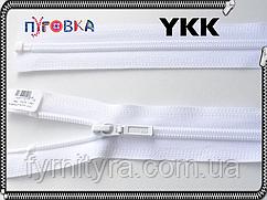 Молния спираль YKK 80cm 501 белая 1бегунок разьемная