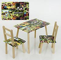 """Столик и два стульчика """"Майнкрафт"""""""
