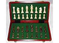 Шахматы деревянные в подарочном сундучке I5-27, шахматы деревянные классические, шахматы подарочные