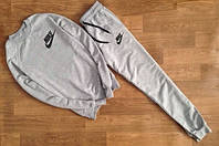 Мужской серый спортивный костюм Nike галочка+имя