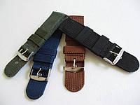 Нейлоновый тканевый ремешок для часов 20мм черный синий зеленый коричневый, фото 1