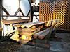 Деревянный стол со скамейками Оверед 2,0м