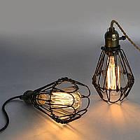 Светильник потолочный клетка [ Cage trap ] (1- Lamp Edisons)