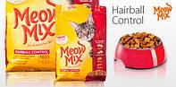 Meow Mix Hairball Control (Мяу Микс) корм для взрослых кошек для выведения комочков шерсти 6.44 кг
