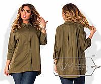 Модная женская блуза рубашка большого размера 50, 52, 54, 56