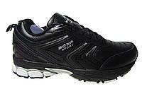 Женские кроссовки Bona, кожаные, черные Р. 37 38 39