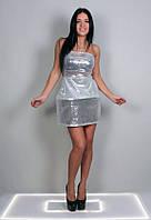 Платье каркасное с пайетками 109 (ФР)