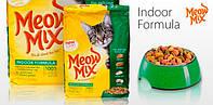 Meow Mix Indoor Formula (Мяу Микс) корм для взрослых кошек, не выходящих на улицу 6.44 кг