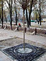 Приствольная решетка чугунная квадратная №7 (d 980 мм.)