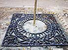 Приствольная решетка чугунная квадратная №7 (d 980 мм.), фото 4