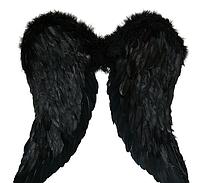 Крылья Амура большие 58х75см (черные)