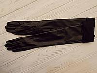 Перчатки кожаные выше локтя с подворотом
