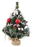 """Елка искусственная Новогодько, """"Бусинка"""" с украшением 0,45 м."""