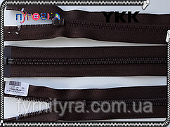 Молния спираль YKK 80cm 141 шоколад 1бегунок разьемная