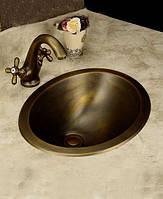 Умывальник ( раковина) медный для ванны Deco ( бронзовый)