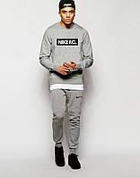 Мужской  серый спортивный костюм Nike F.C.