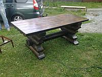 Деревянный стол из бревна 0,9м*2,0м