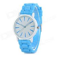 Женские яркие часы Geneva с силиконовым ремешком Кварц