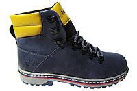 Женские ботинки Timberland натуральная кожа, синие Р. 36 38 40