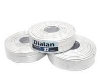 Коаксиальный (телевизионный) кабель Dialan  F690BV,сечение 1,02мм., плотность оплетки 90% ,100м., 75 Ом