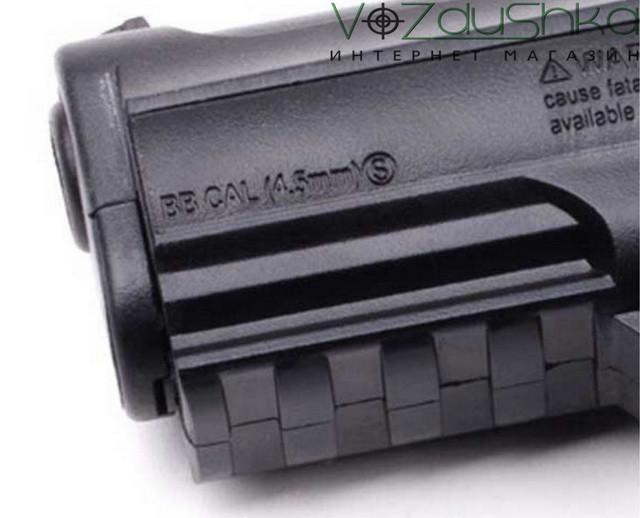 Пневматический пистолет кросман с11с подствольной планкой пикантини