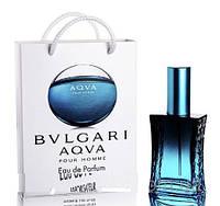 Мини парфюм мужской Bvlgari Aqua pour homme в подарочной упаковке 50 ml
