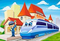 Пазл На вокзале 40 деталей maxi В-040216