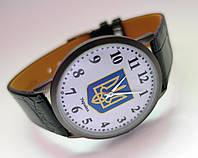 Часы мужские с Гербом Украины NEW DAY цвет корпуса титановый