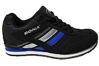 Женские кроссовки Bona, кожа, синие. Р. 38 39