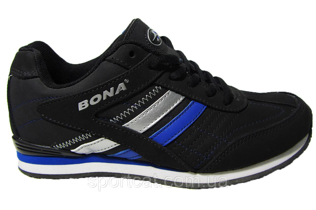 Женские кроссовки Bona, кожа, синие. Р. 38