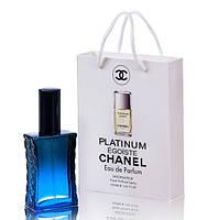 Мини парфюм мужской Chanel Egoiste Platinum в подарочной упаковке 50 ml