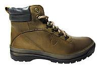 Мужские ботинки Madoks коричневые, турецкая кожа, мех Р. 40 45