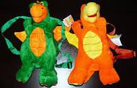 Мягкая игрушка-рюкзак Дракон 28см №0305-28, отличный подарок для ребенка и взрослого