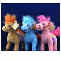 Мягкая игрушка озвученная Лошадка №2172,подарки для детей,пушистая,качественная, лучший подарок для малышей